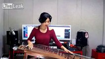 Korean Girl Performs All Along The Watchtower On Gayageum