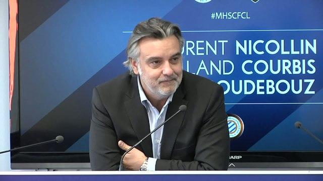 Foot - L1 - MHSC : Courbis soutenu par Laurent Nicollin