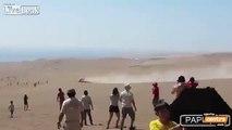 Robby Gordon Flies Down A Sand Dune - Dakar 2014 Rally