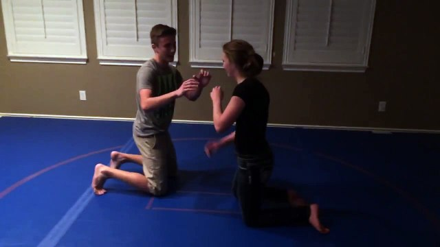 15 Year Old Girl Puts Boy to Sleep with Triangle Jiu Jitsu