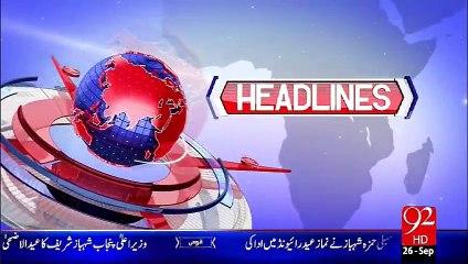 Headlines - 02:00 AM - 26-09-15 - 92 News HD