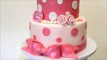 Pink And White Birthday Cake