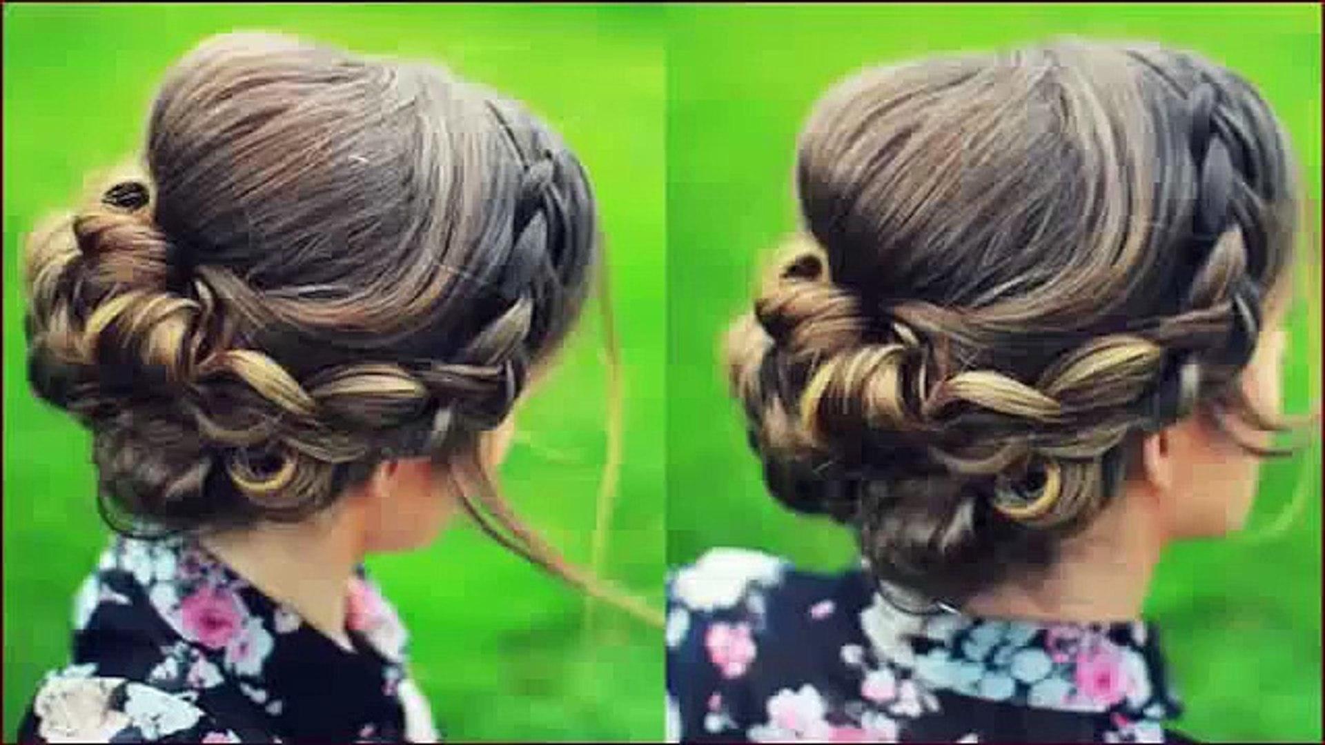 bridal updo hair tutorial _ wedding hairstyles for short medium long hair