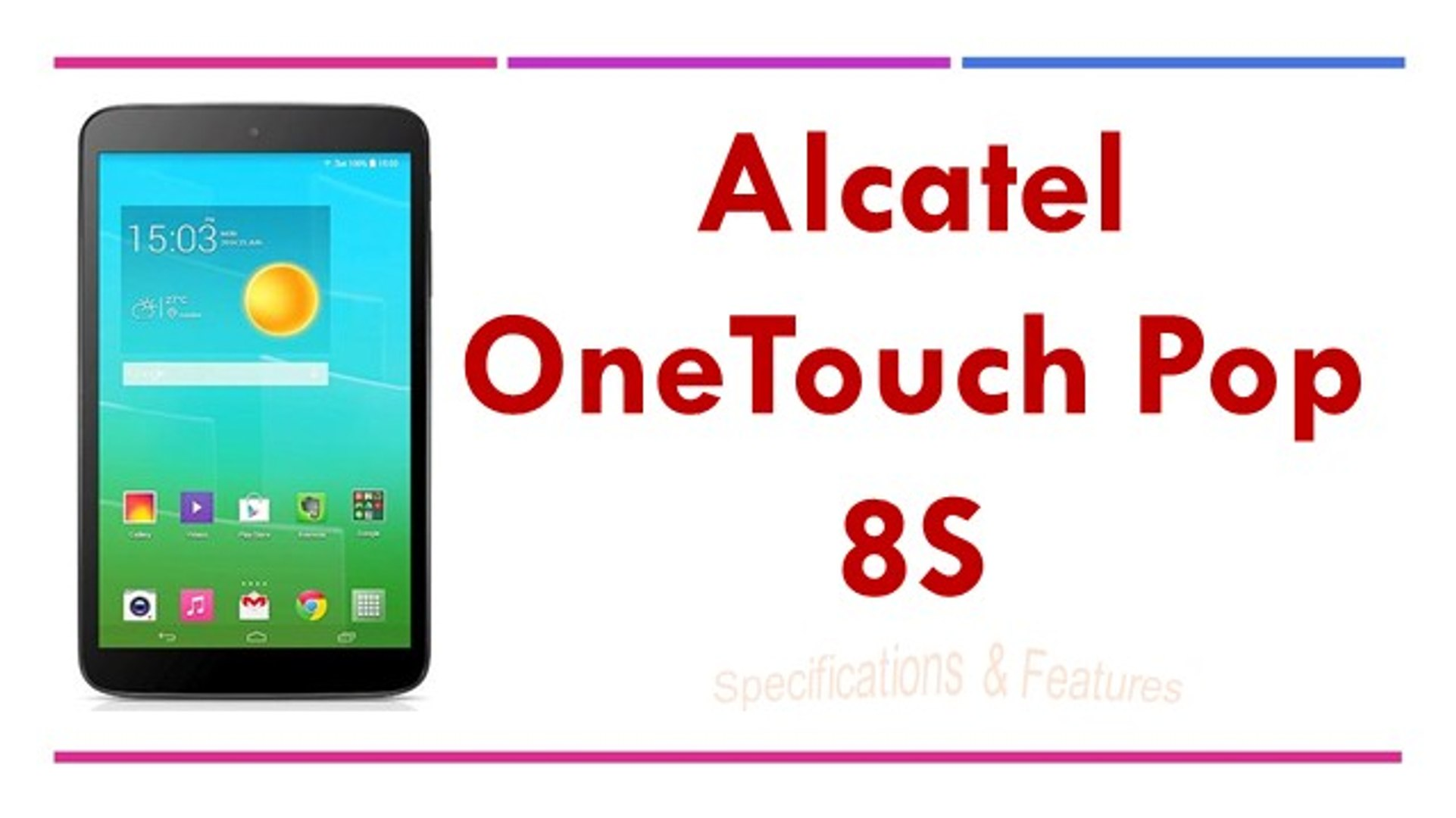 Alcatel OneTouch Pop 8S Specifications & Features