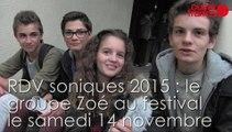 RDV soniques 2015. Le groupe Zoé au festival le 14 novembre