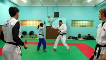 Vincent Parisi COACH la Championne du Monde de Judo CLARISSE AGBEGNENOU au Chambara sur BeiN Sports.