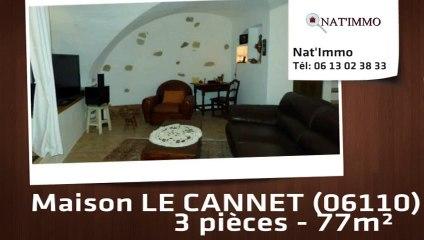 LE CANNET - Maison  3 Pièce(s) 77 m²  à vendre