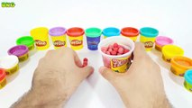 Play Doh ABC song Alphabet learning videos for toddlers