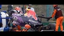 Daniil Kvyat unharmed Red Bull as Nico Rosberg takes pole position team-mate Lewis Hamilton
