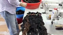 Uzbek Hair - sorting the Coarse bundles - Uzbek Volosi