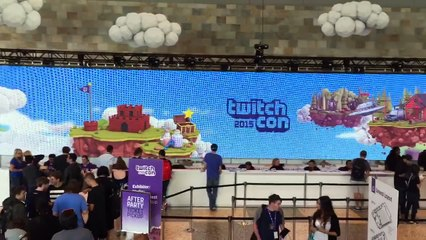 @SuperSoulBros live (again) from level 1 of @mosconecenter west for #twitchcon #day1