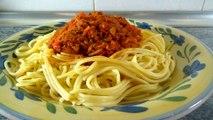 ESPAGUETI A LA BOLOÑESA - recetas de cocina faciles y rapidas - comidas economicas de hacer en casa