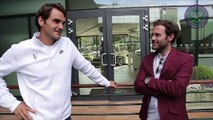 09. Juan Mata, David de Gea and Ander Herrera meet Roger Federer and Jamie Murray