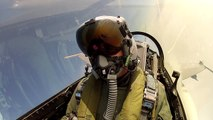 RDAF pilot fires AIM-9L air-to-air missile from F-16