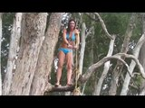 Sexy Michelle Jenneke falls again - this time in a bikini!
