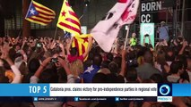 Catalonia pres. claims victory for pro-independence parties in regional vote