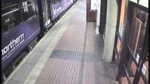 Une jeune femme ivre tombe sous les rails du train