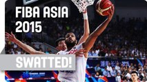 Not in my House! Zhou Qi with a Huge Block  - 2015 FIBA Asia Championship