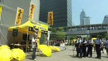 Protesters gather in Hong Kong a year since mass rallies