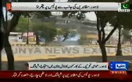 Pakistan Awami Tehreek workers clash with Punjab Police in Lahore, many injured & arrested