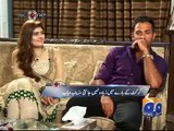 reaction of wahab riaz wife when he told the bad habbits of her