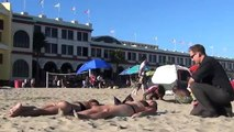 Priest Picking up Girls Pick up Prank On The Beach Hot Girls (TheSureChuck)