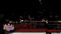 1991-09-07 WWF King Of The Ring - King Of The Ring Tournament Opening - Roadwarrior Animal vs The Undertaker