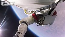 Awesome new first-person view of Felix Baumgartners space jump