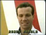 Randy Mamola riding his bike like a horse.