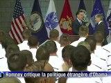 Romney accuse Obama de passivité et appelle à armer les rebelles syriens