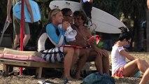 Surfeuses en talons aiguilles