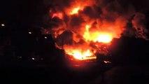 L'explosion du train dans le centre-ville de Lac-Mégantic au Canada