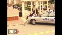 Une voiture de police renverse un skateur et repart