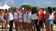 Un bus rempli de mannequins à Miami !