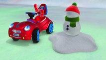 Kids Cartoons in 3D animation: Mister Car & Snowman {汽车雪人}