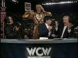 Ric Flair interrupts Tony Schiavone, WCW Monday Nitro 02.10.1995