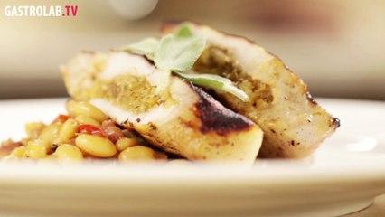 Stuffed Pork Chop with Raisins and Oregano Recipe