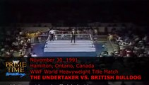1991-11-30 WWF Prime Time Wrestling - WWF World Heavyweight Title - The Undertaker vs British Bulldog (Davey Boy Smith)