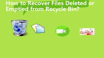 how to recover files form deleted or emptied recycle bin