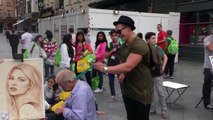 Funny Prankster tickles people in the street - Hilarious Prank