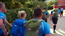 Prince Harry joins injured veterans on a hike for WWTW