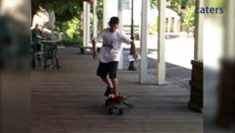 Meet Tony Squawk The Skateboarding Parrot
