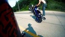 Freestyle Street Bike CRASH Wheelie On Highway Motorcycle CRASHES Stunts ACCIDENTS FAIL