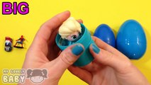 Learn Sizes with Blue Surprise Egg! Opening Blue Eggs with Toys! Lesson 14