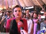 Unique fashion show Models catwalk with sacrificial animals in Lahore