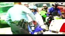Motorcycle Stunts RIDE OF THE CENTURY ROC Bike Vs Police Street Stunt Running From The Cop