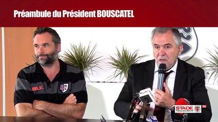 Conférence de presse de René Bouscatel, Ugo Mola et Fabien Pelous