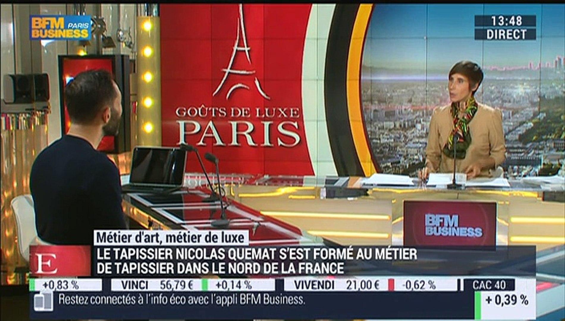 Tapissier Paris 20 métiers d'art, métiers de luxe: tapissier - 01/10