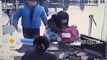 Bank Teller LAUGHS at Robber's Knife
