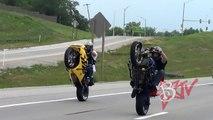 Insane Stunt Bike Wheelie Combos HD Motorcycle Wheelies On Highway Street Bike Stunts Blo